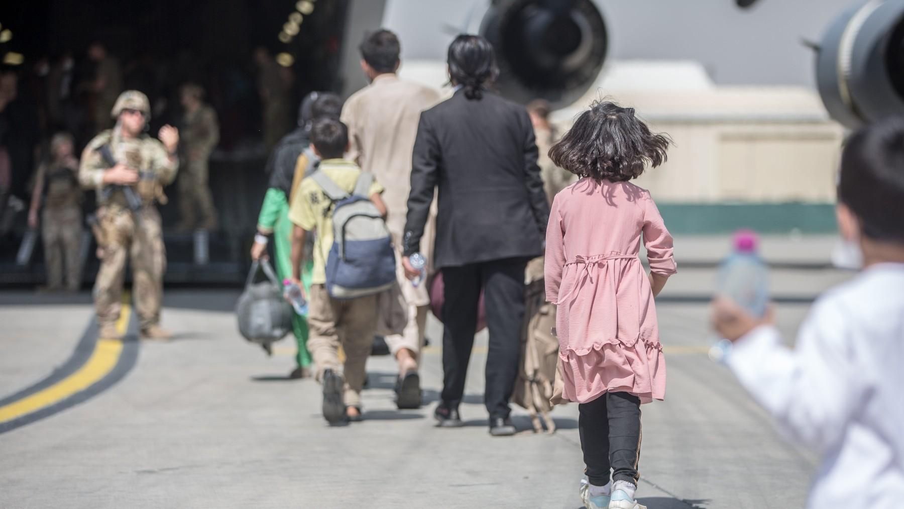 Evacuaciones desde el aeropuerto de la capital de Afganistán, Kabul.