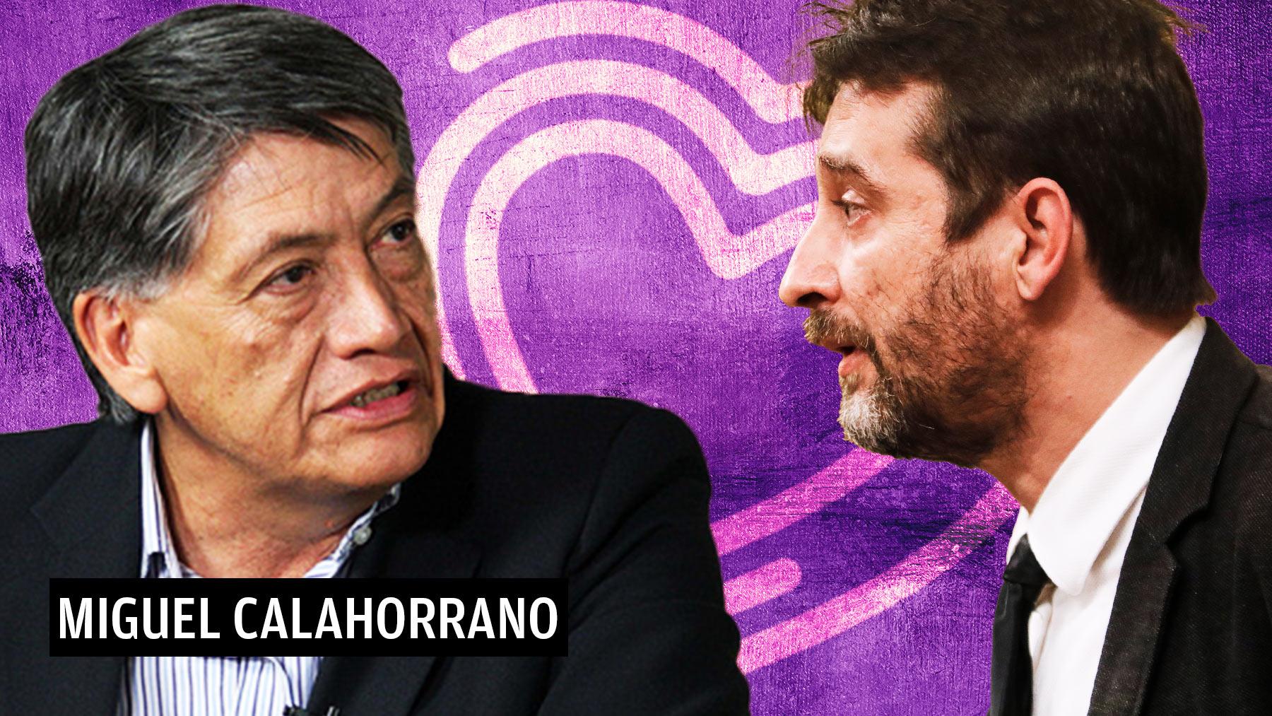 Miguel Calahorrano junto con Rafael Mayoral, fundador de Kinema, la cooperativa de Podemos.