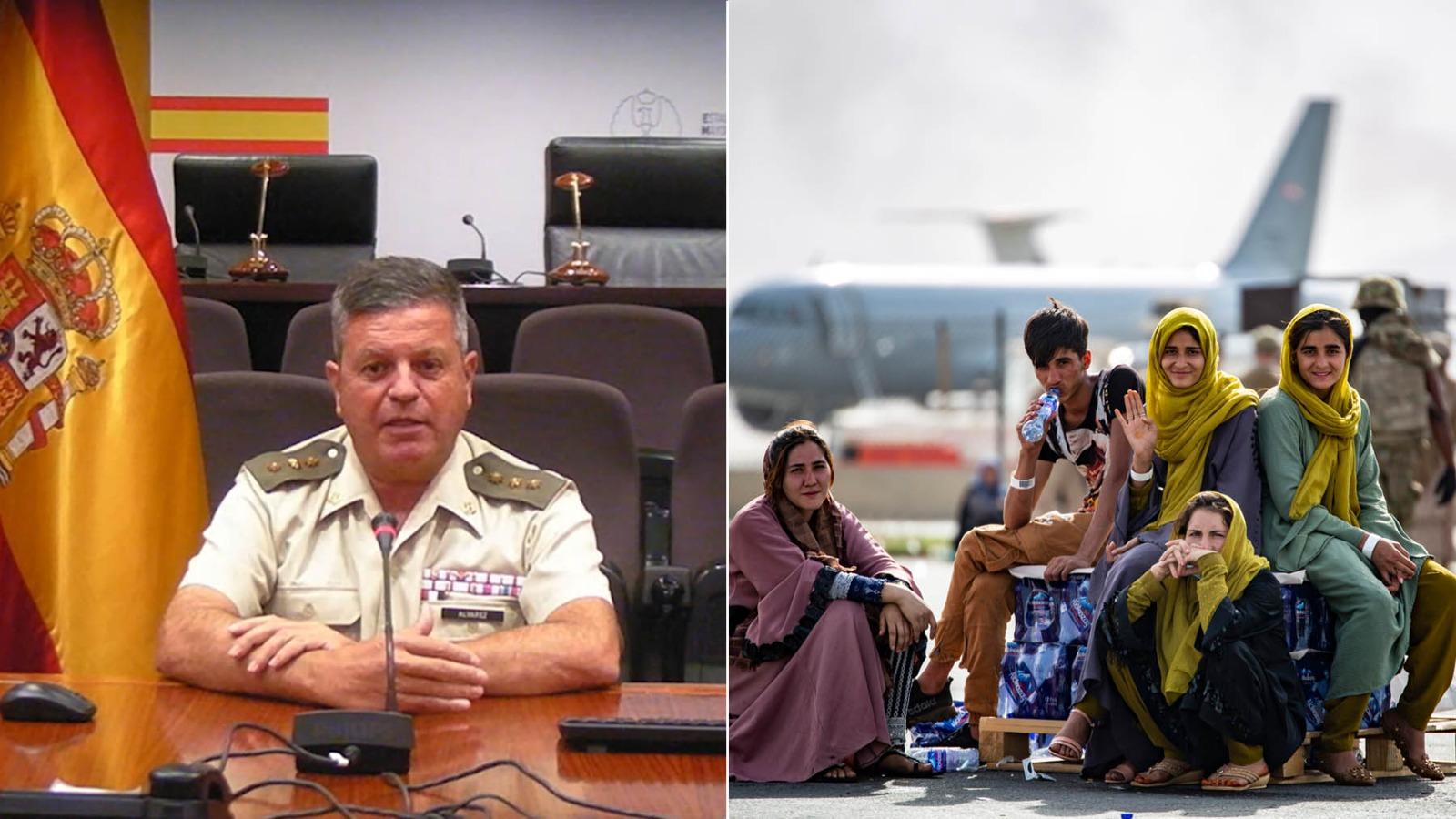 El coronel Álvarez ha estado al frente del último contingente llegado desde Kabul.