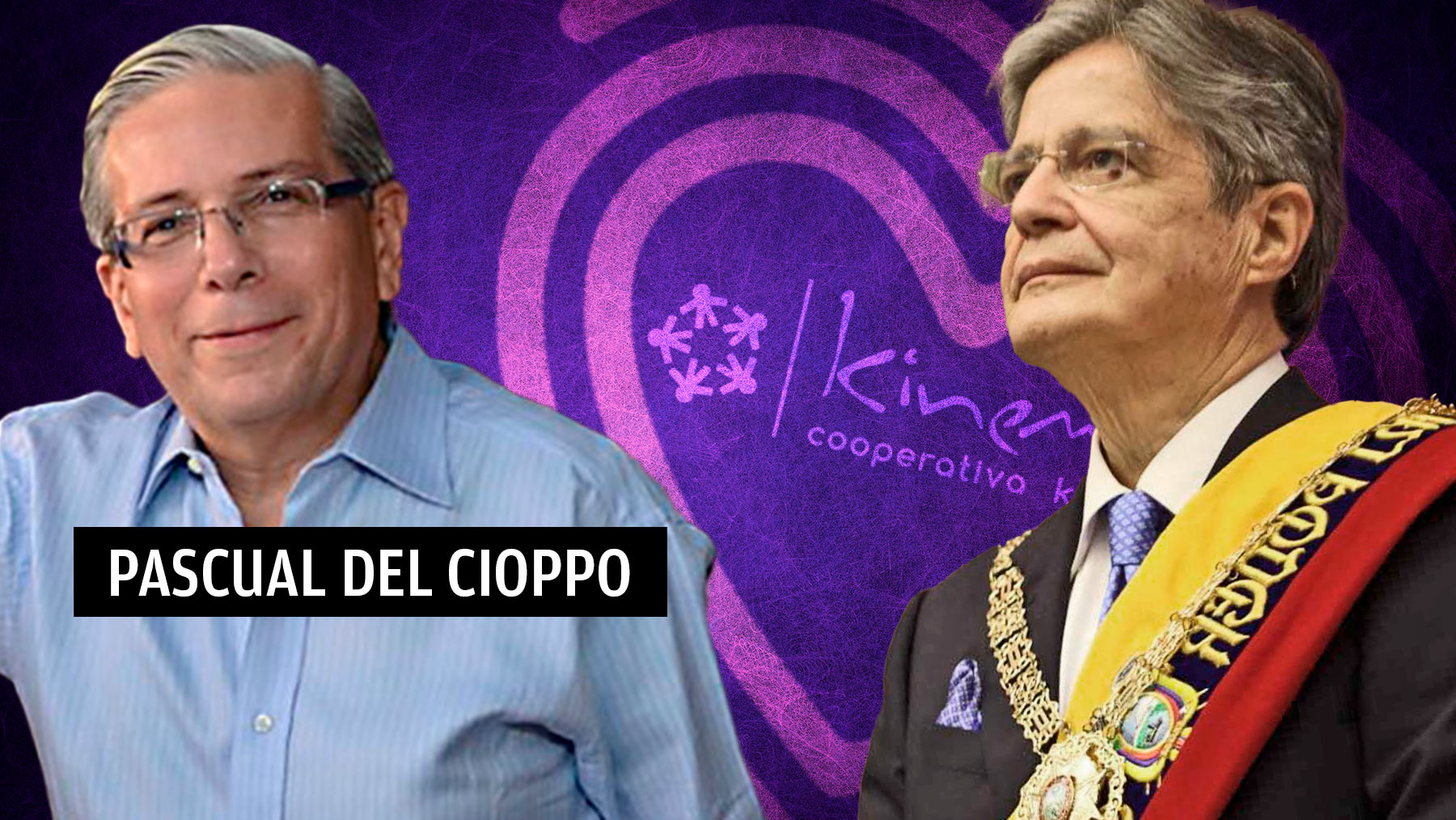 Guillermo Lasso, presidente de Ecuador, junto con Pascual del Cioppo, embajador de Ecuador en España.