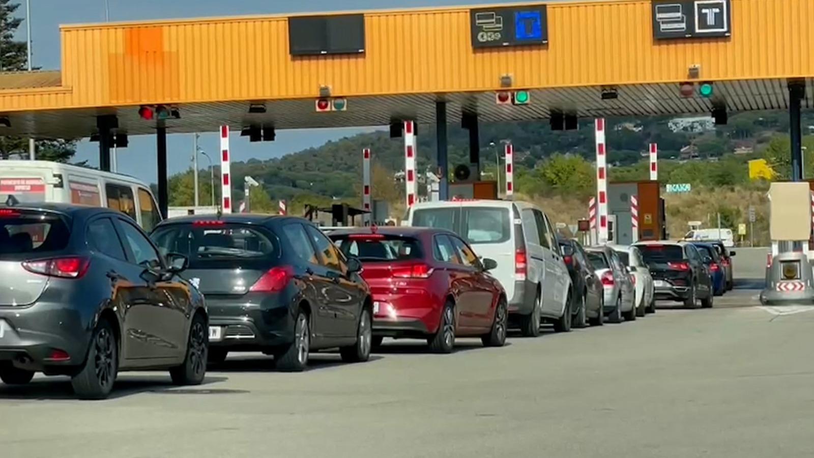 Un peaje de una autopista catalana.