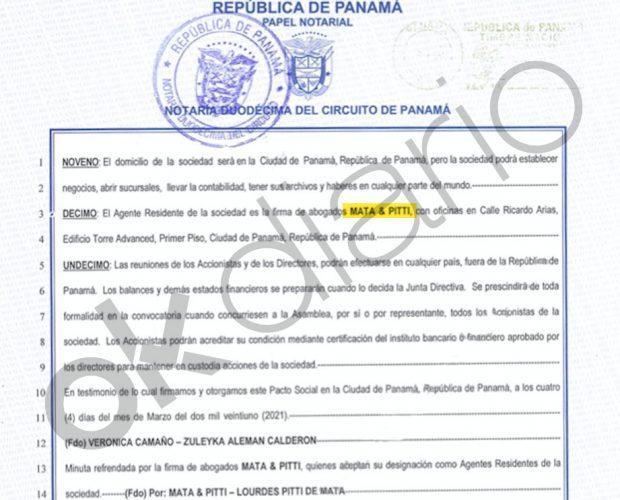 El despacho de abogados usado por la esposa de Pascual del Cioppo aparece en los Papeles de Panamá.
