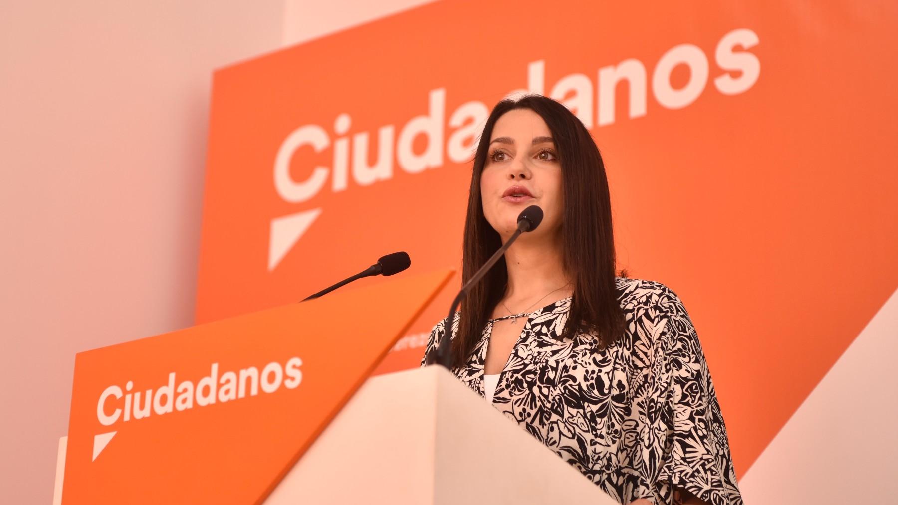 La presidenta de Ciudadanos, Inés Arrimadas. (Foto: EP / Cs)