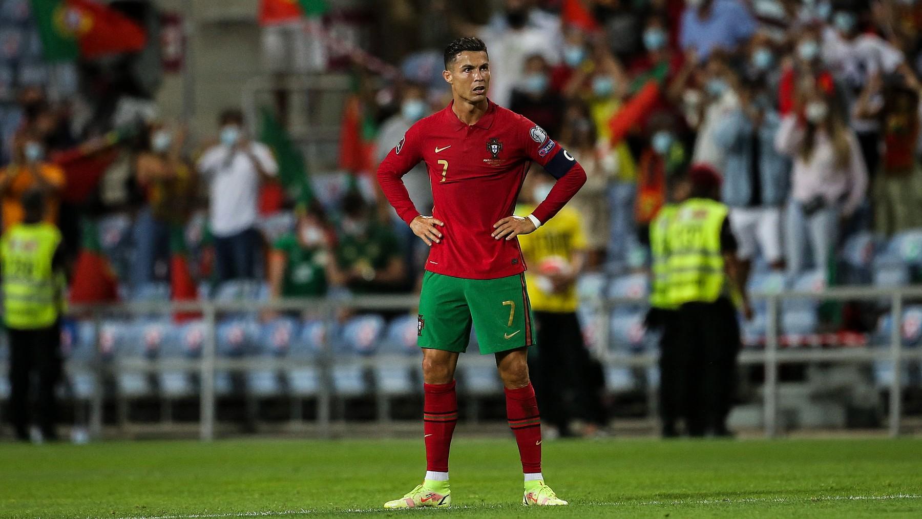 Cristiano celebra un gol con Portugal. (AFP)