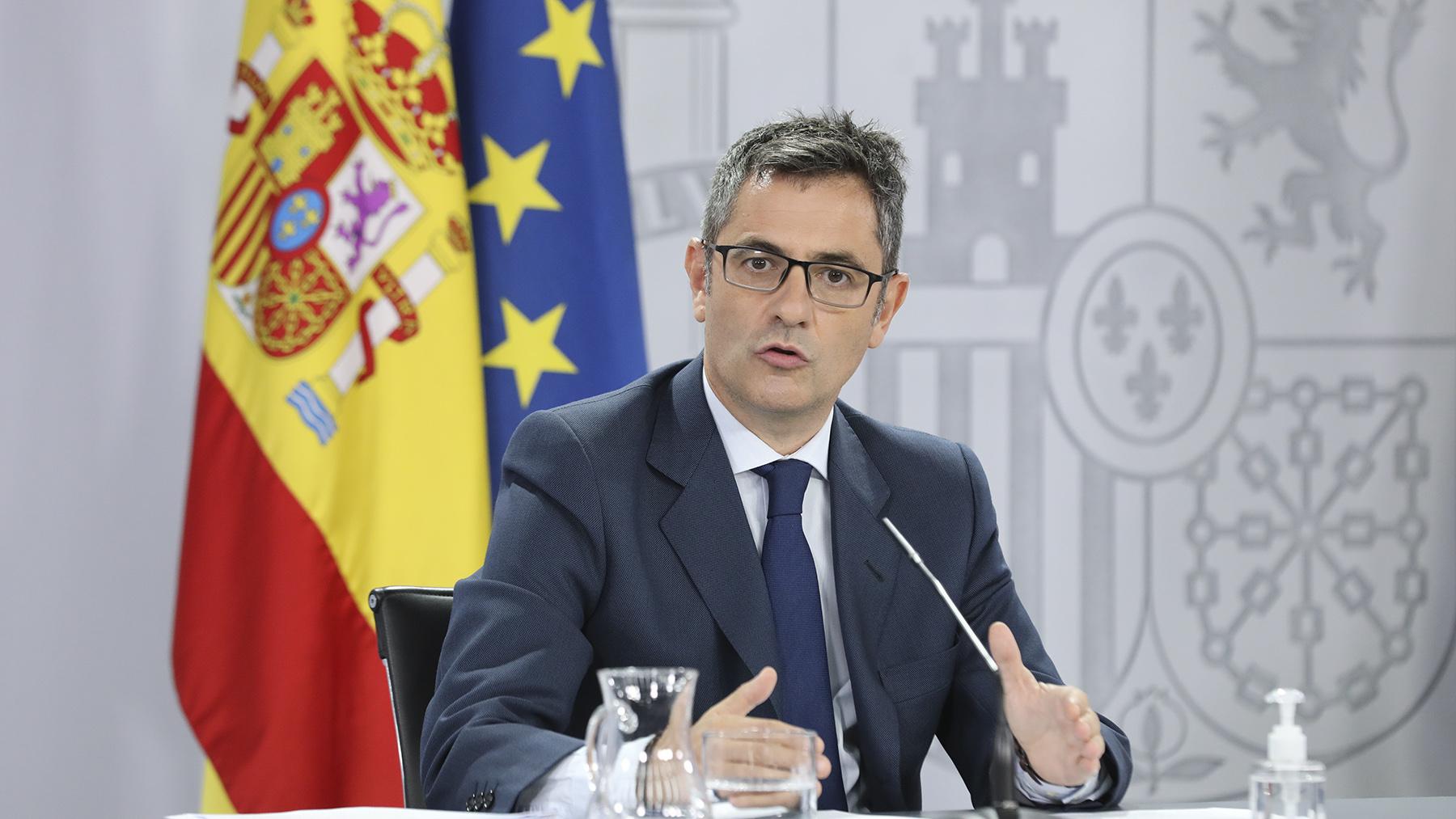 Félix Bolaños, ministro de la Presidencia, Relaciones con las Cortes y Memoria Democrática.