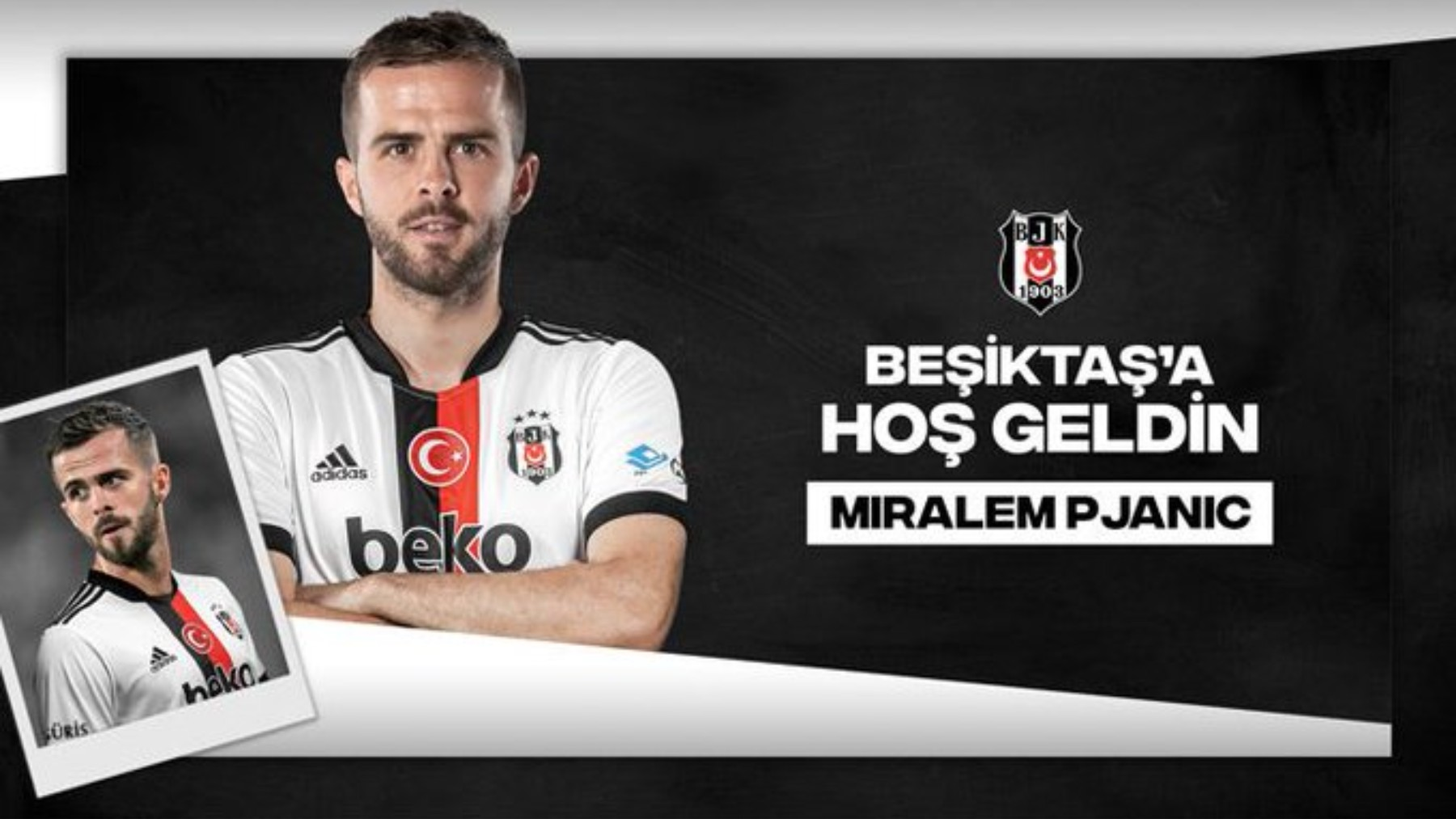 Pjanic, nuevo jugador del Besiktas.