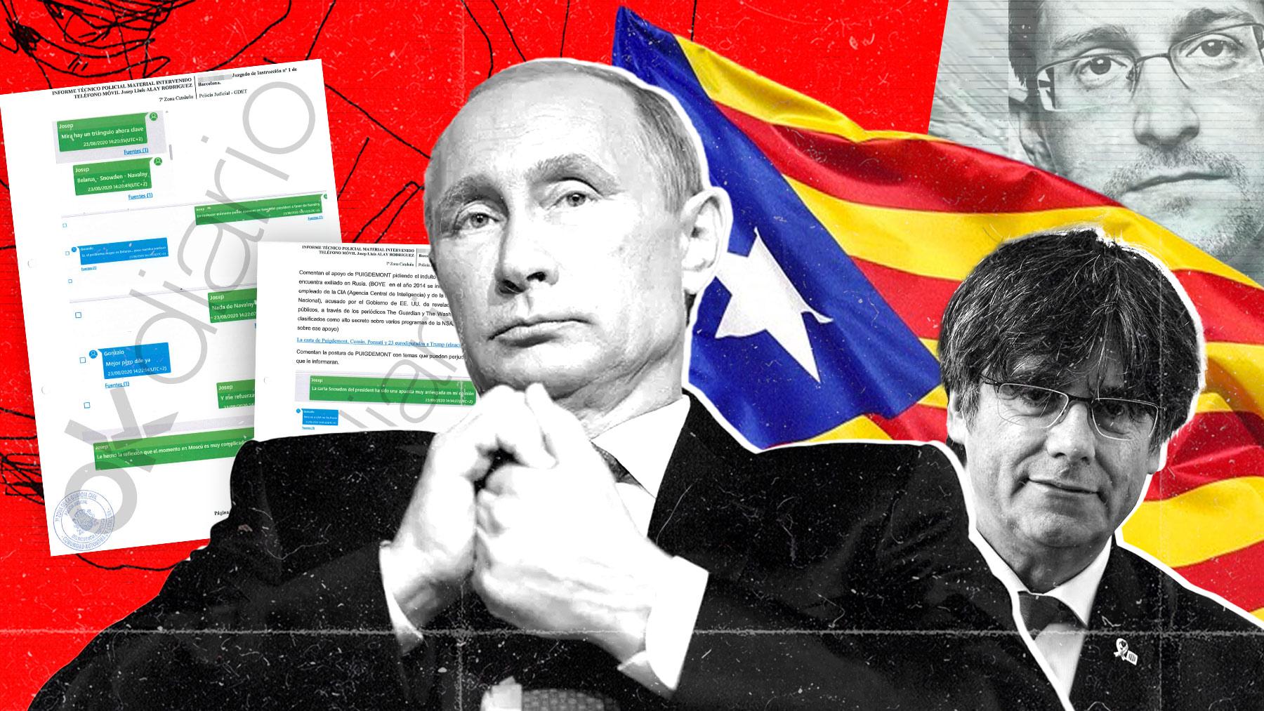 Putin, Puigdemont y Snowden.