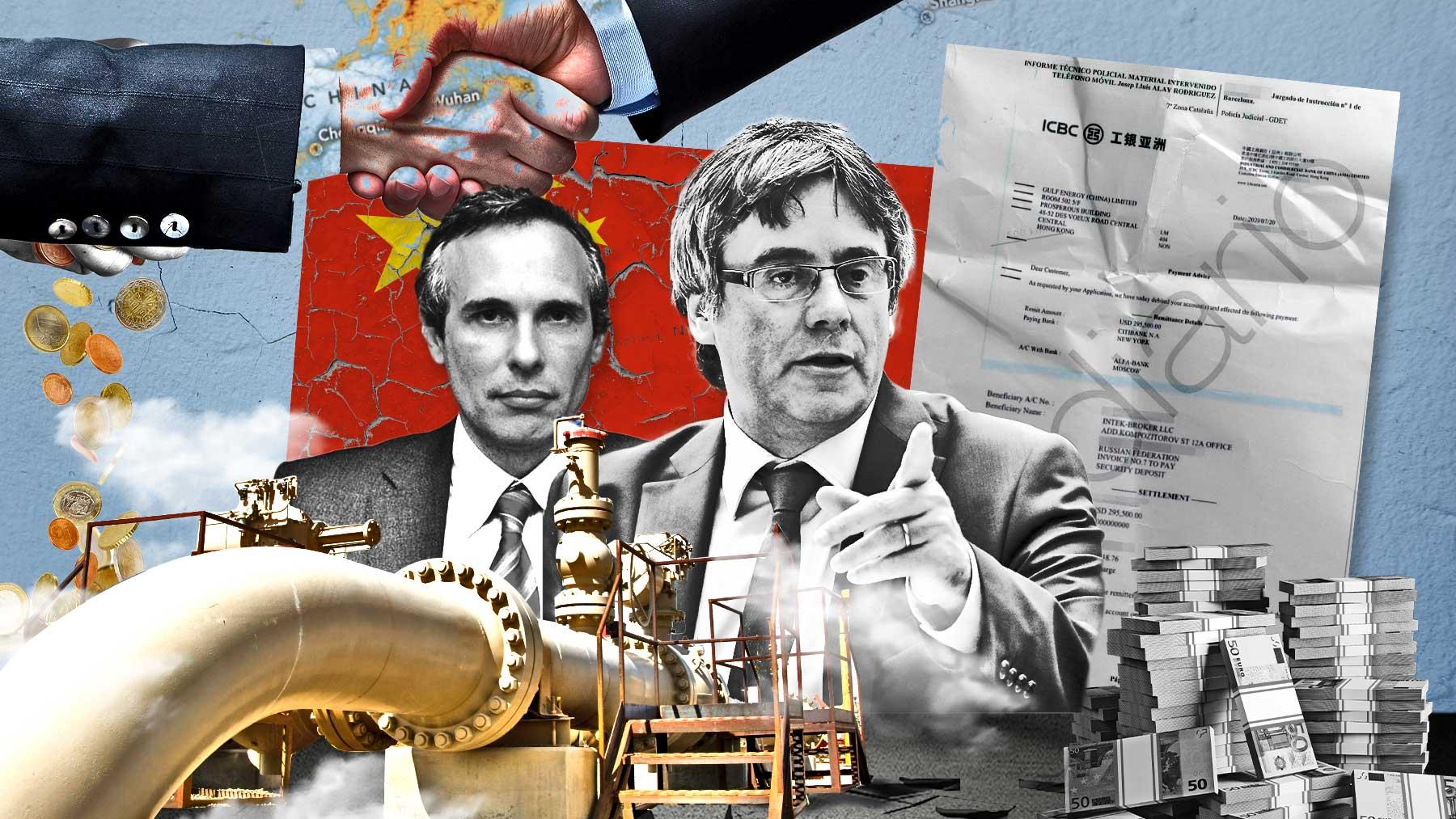 Puigdemont, Alay y el famoso recibo justificante del ingreso de una empresa china.
