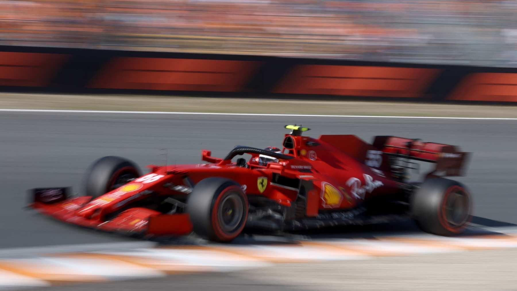 Carlos Sainz en la sesión de clasificación del GP de los Países Bajos. (AFP)