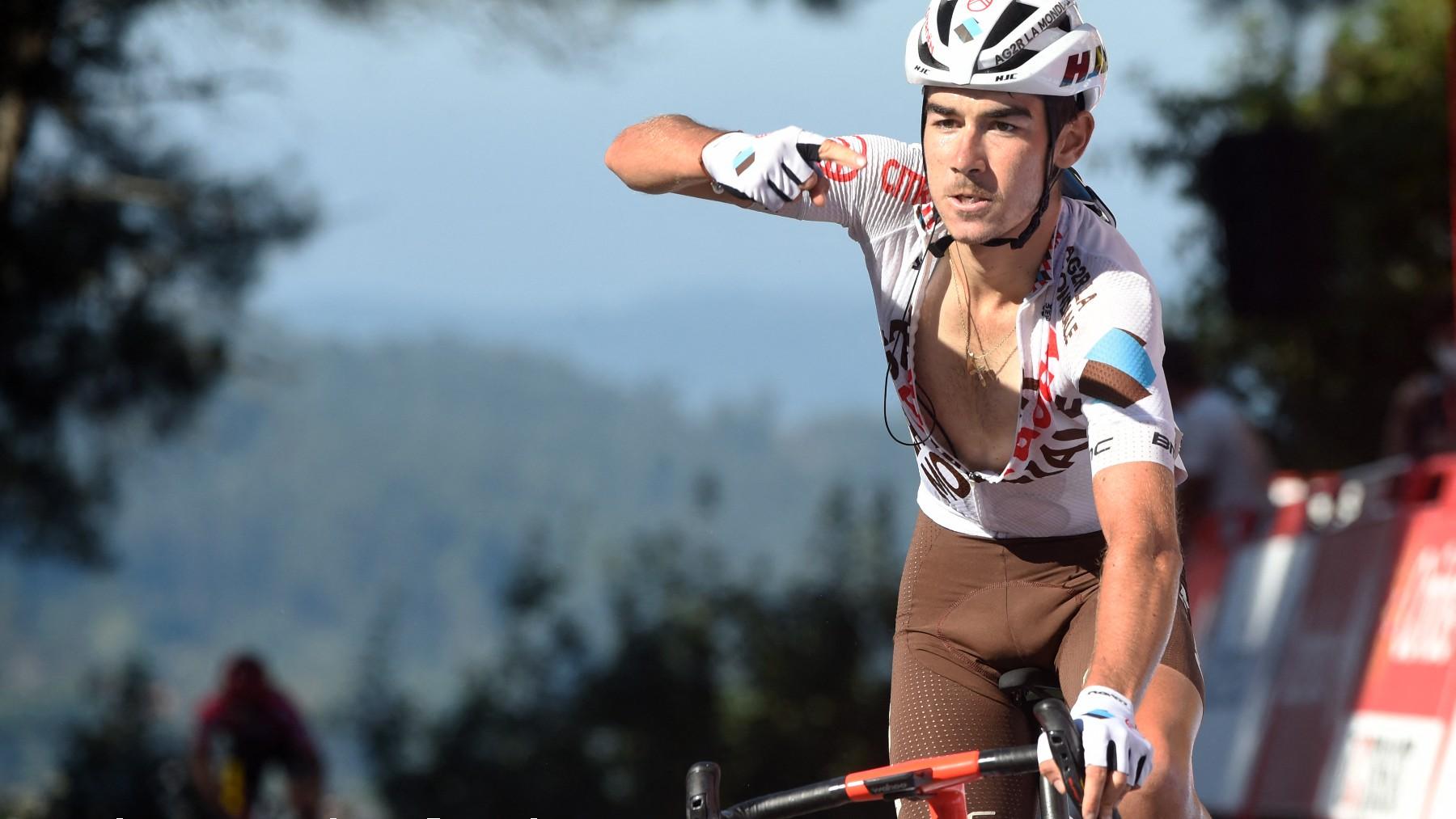 Clément Champoussin durante la etapa 20 de La Vuelta a España. (AFP)