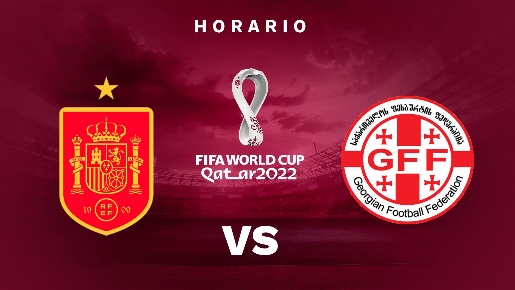 Clasificación Mundial Qatar 2022: España – Georgia | Horario del partido de fútbol de la clasificación del Mundial de Qatar 2022.