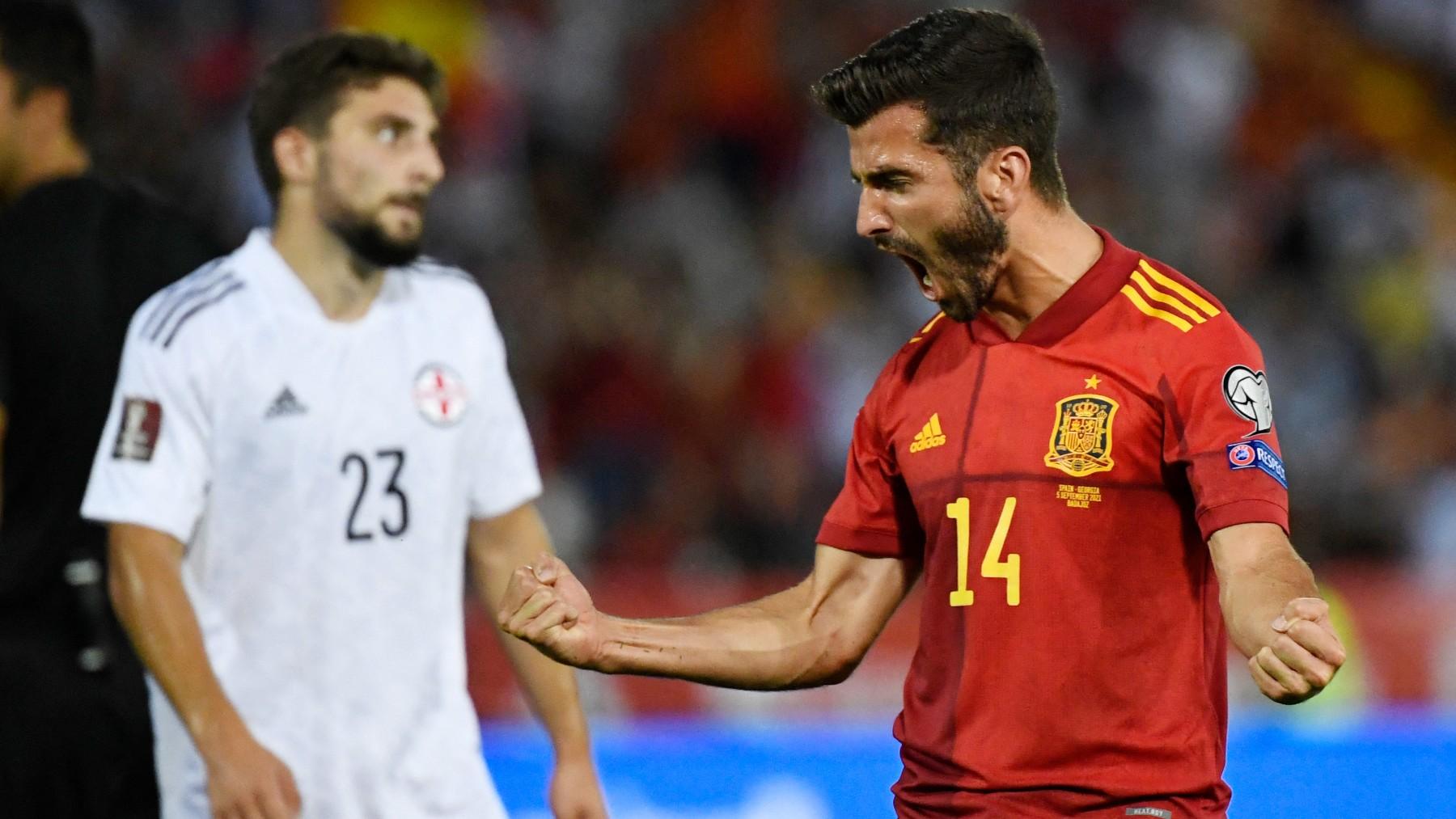 Clasificación Mundial Qatar 2022: España – Georgia, en directo. (AFP)