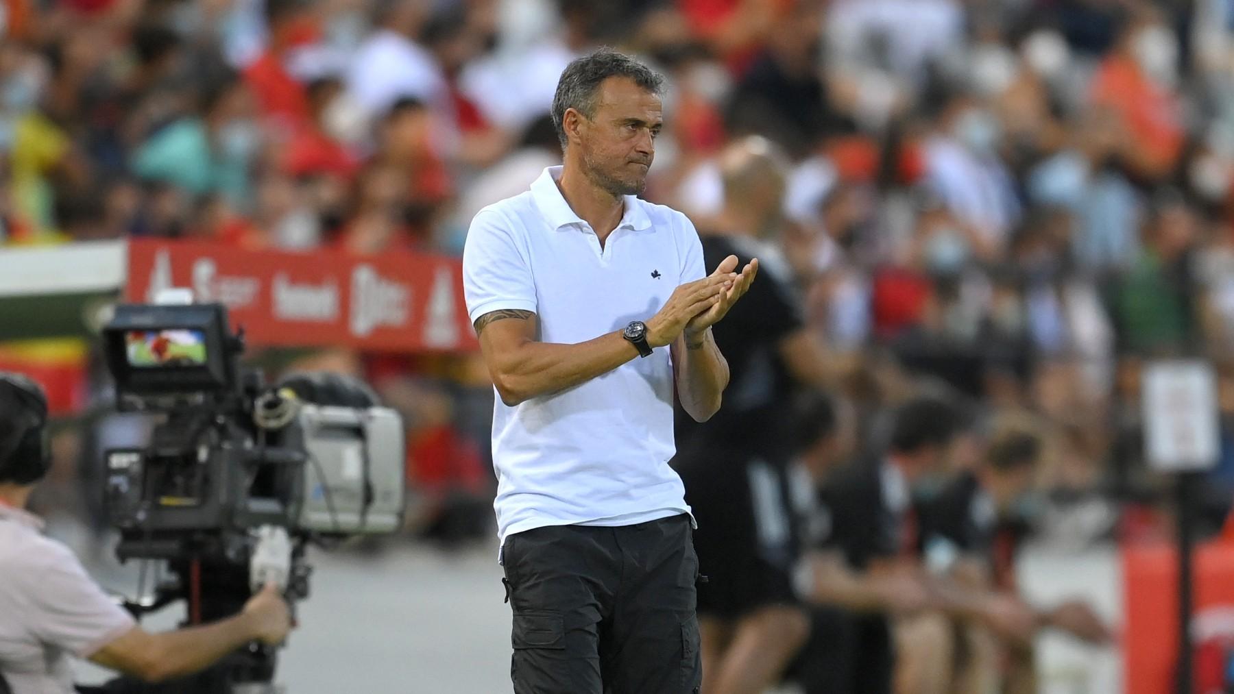 Luis Enrique, durante un partido. (Getty)