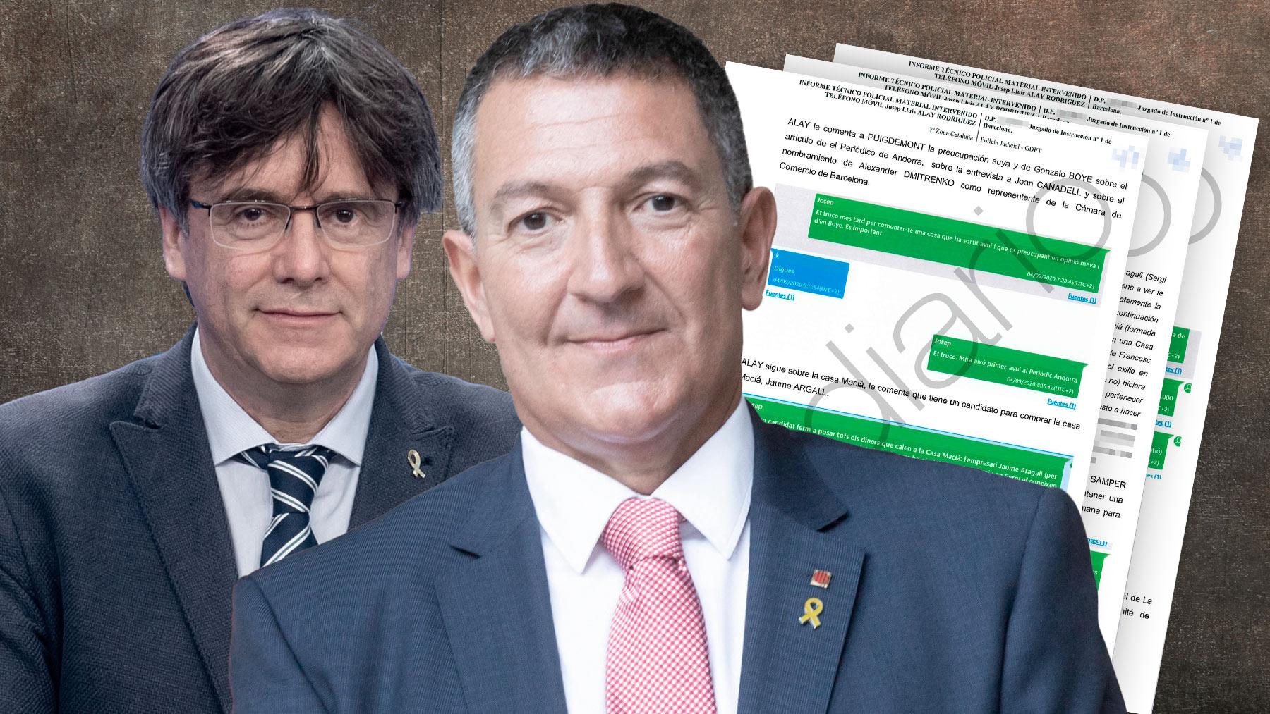 El conseller de Interior y Puigdemont.