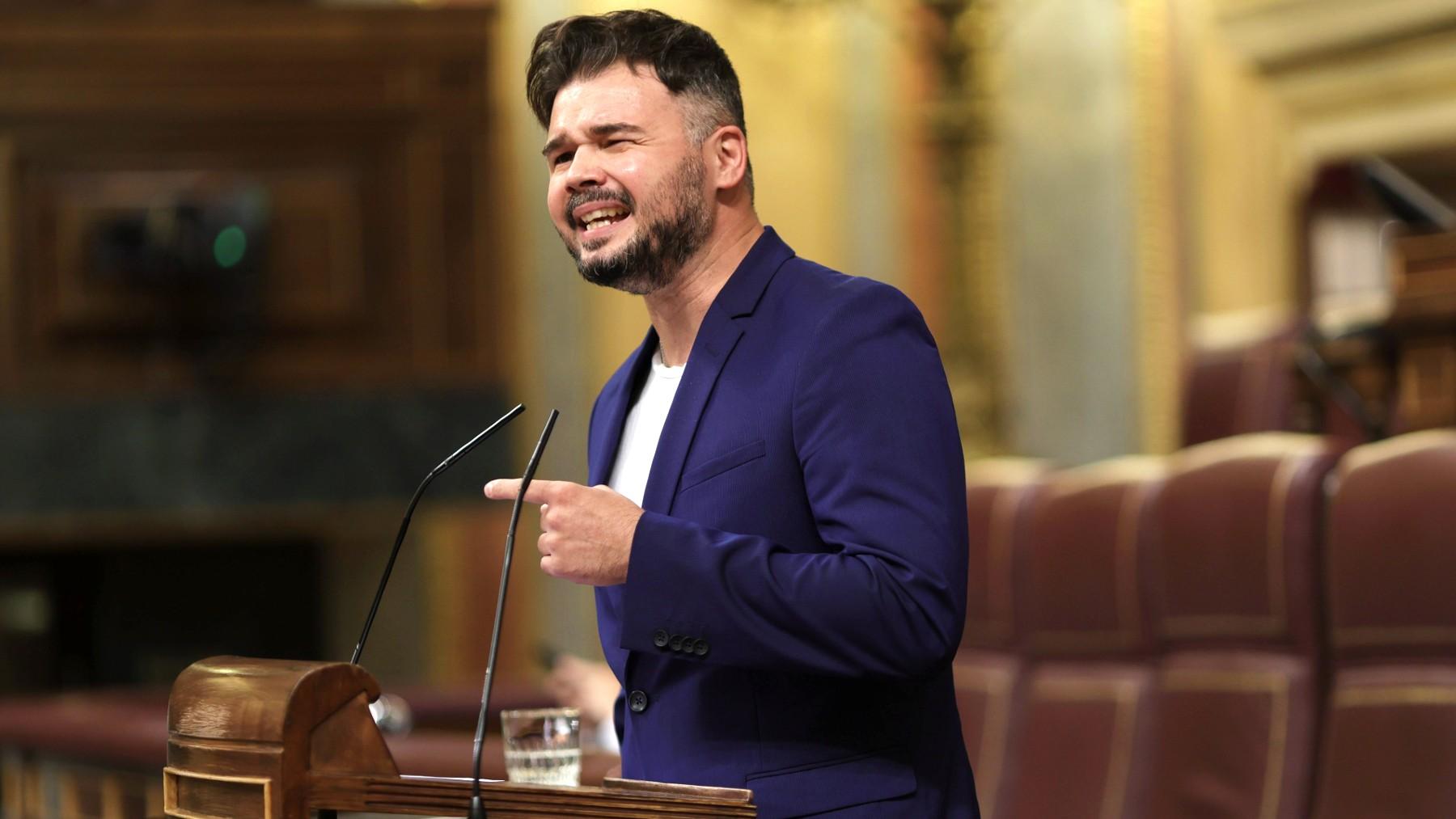 El portavoz de ERC en el Congreso, Gabriel Rufián. (Foto: EP)