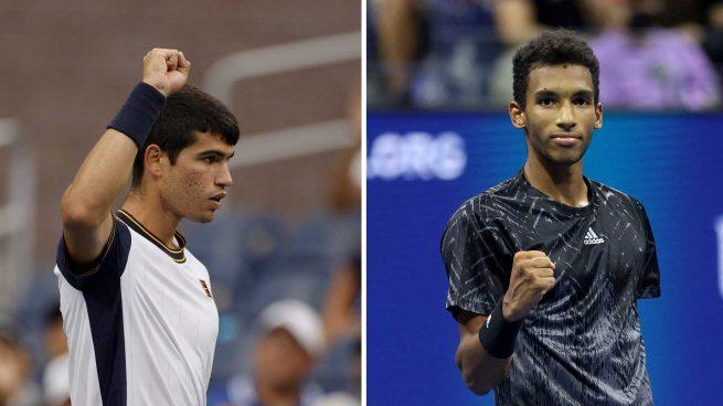 Carlos Alcaraz – Felix Auger-Aliassime: a qué hora y dónde ver en directo y online los cuartos de final del US Open