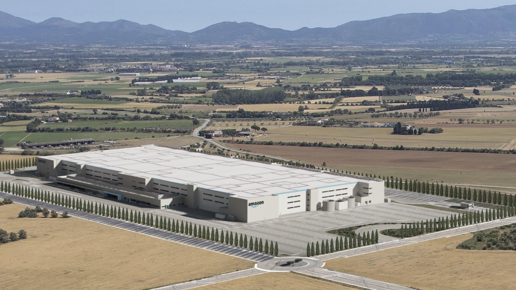 Centro logístico de Amazon en Girona.