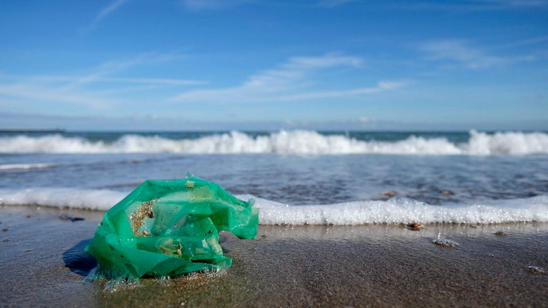 Bolsa de plástico en la orilla de una playa (WOUTER DE BRUIJN).