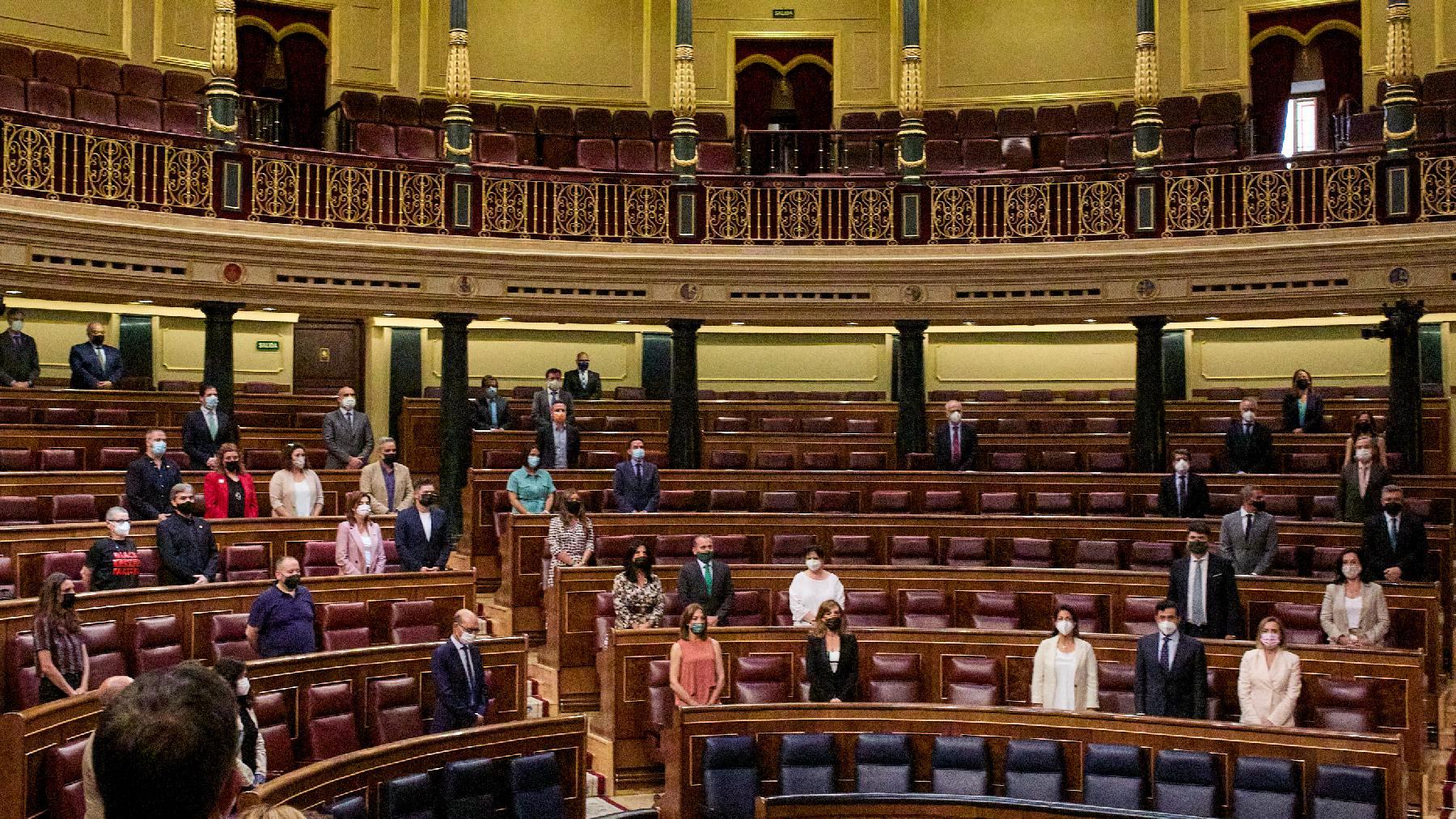 Minuto de silencio en el Congreso el pasado junio. (Foto: EP)