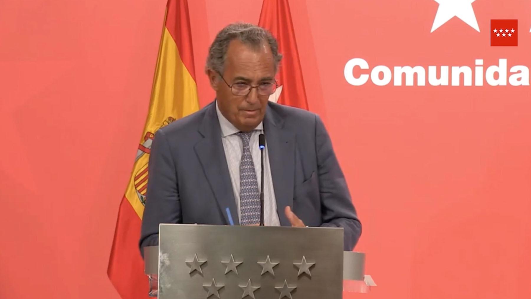 El portavoz del Gobierno de Ayuso, Enrique Ossorio.