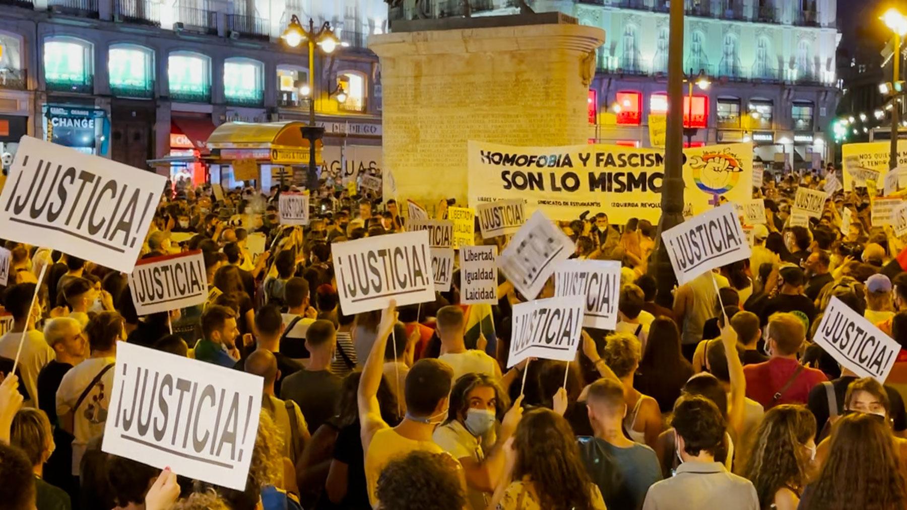 No a la homofobia, en Madrid