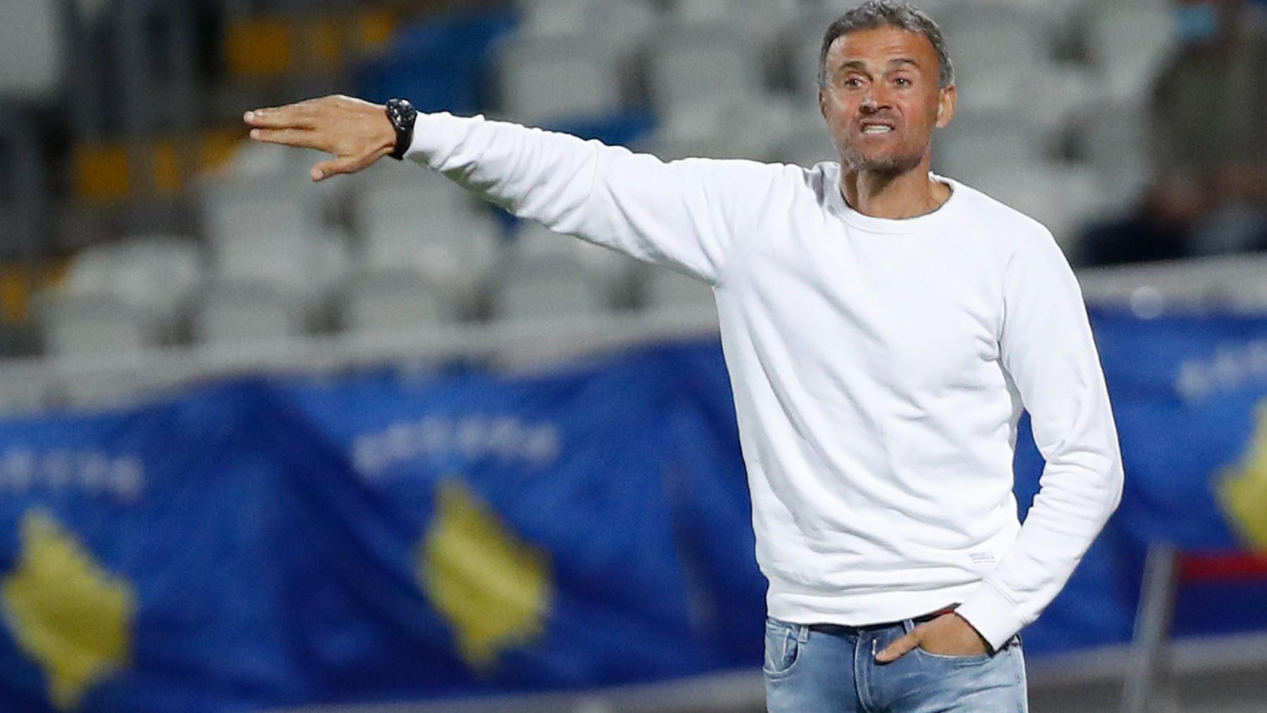 Luis Enrique, durante un partido con España. (SeFútbol)