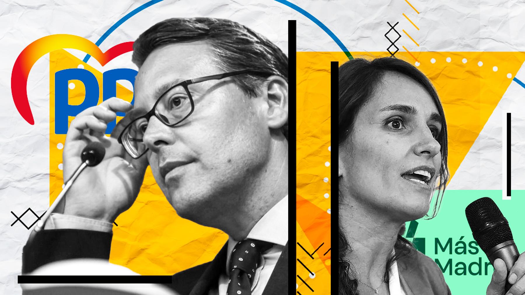 Alfonso Serrano (PP) y Mónica García (Más Madrid).