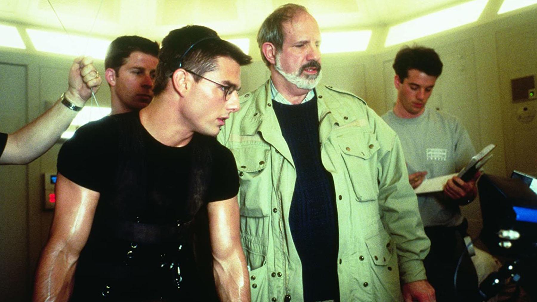Tom Cruise y Brian de Palma en el rodaje de «Misión Imposible» (Paramount Pictures)