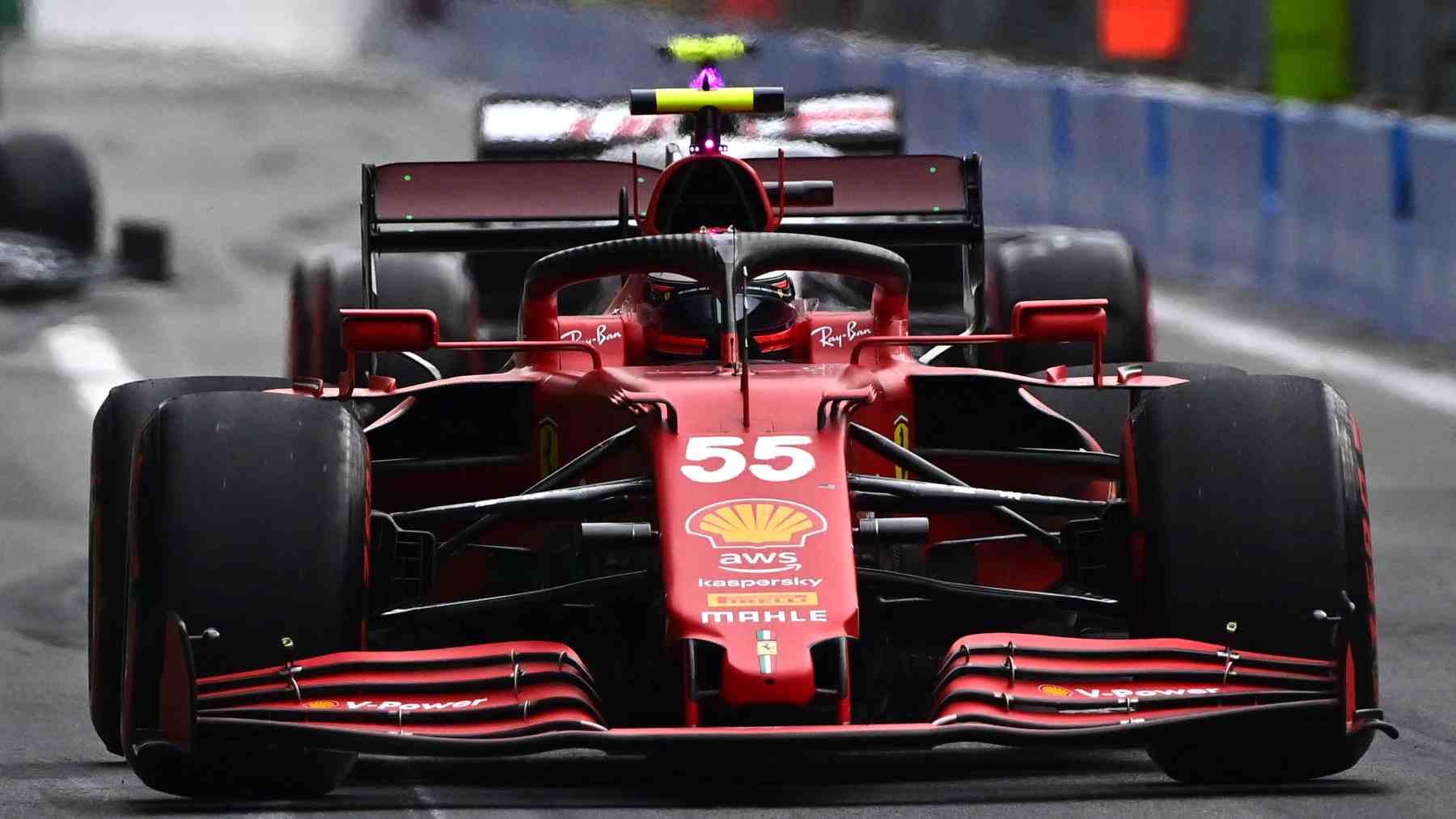 Carlos Sainz en la sesión de clasificación del GP de Italia. (AFP)