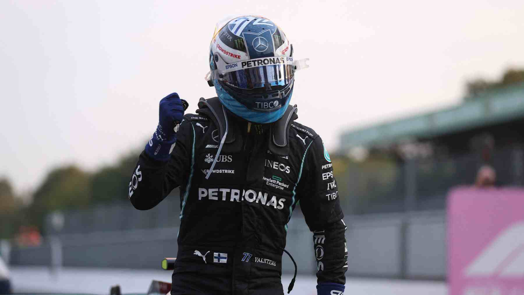 Valtteri Bottas en la clasificación del GP de Italia de Fórmula 1. (AFP)