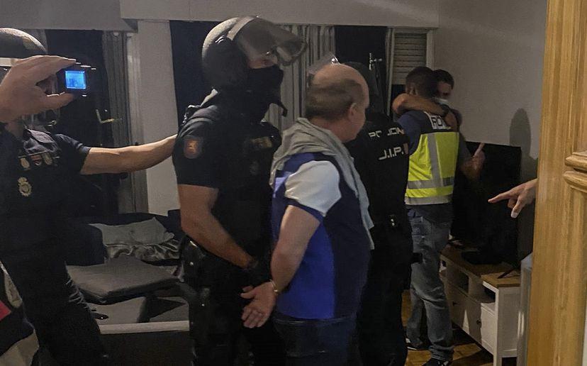 Hugo Carvajal, detenido.