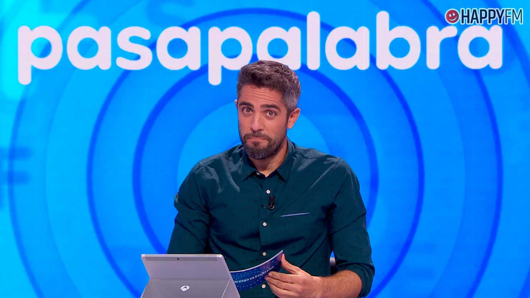 Roberto Leal en el plató de Pasapalabra