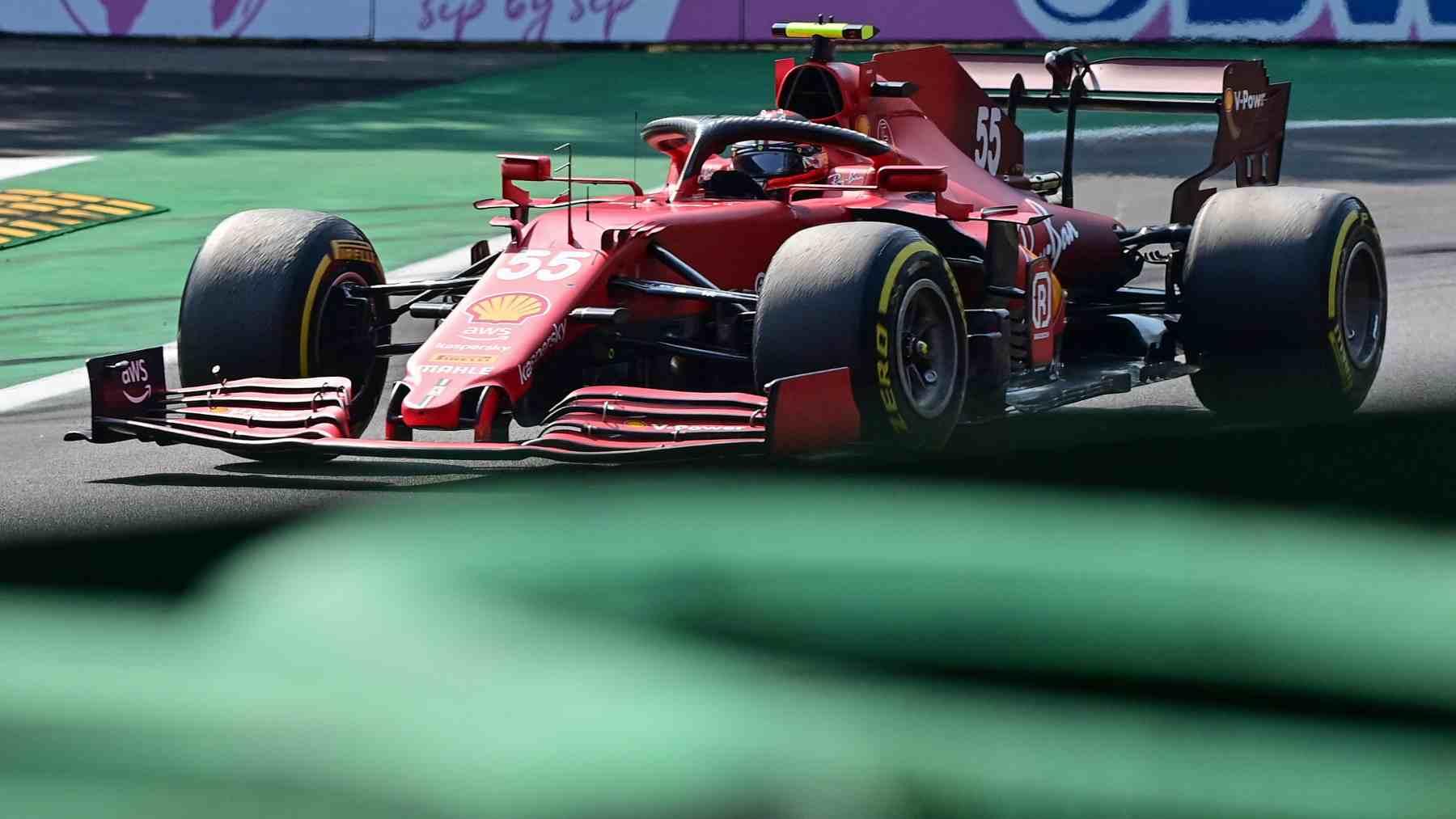 Carlos Sainz durante la clasificación al sprint del GP de Italia. (AFP)