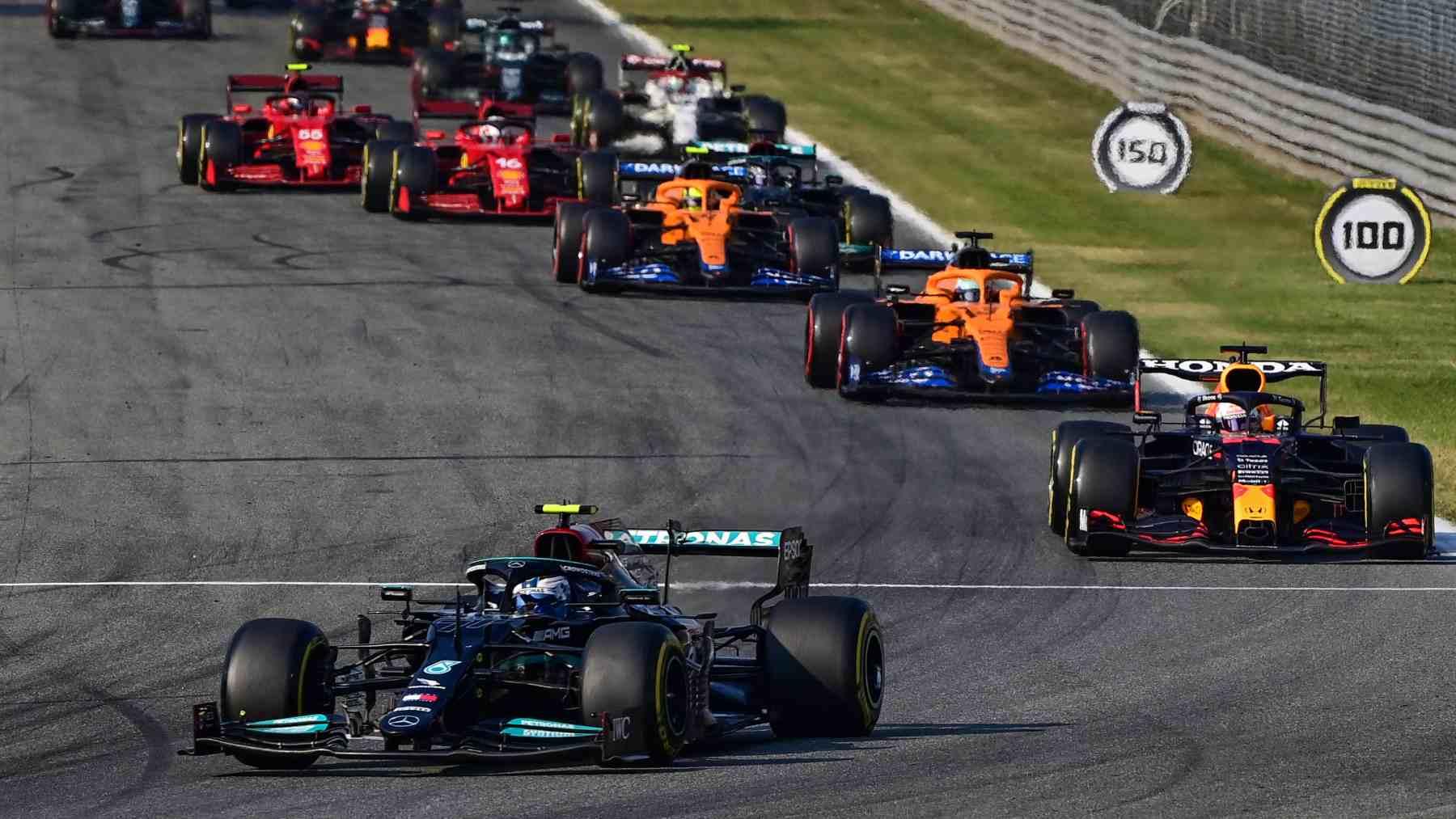 Valtteri Bottas en la carrera al sprint del GP de Italia. (AFP)
