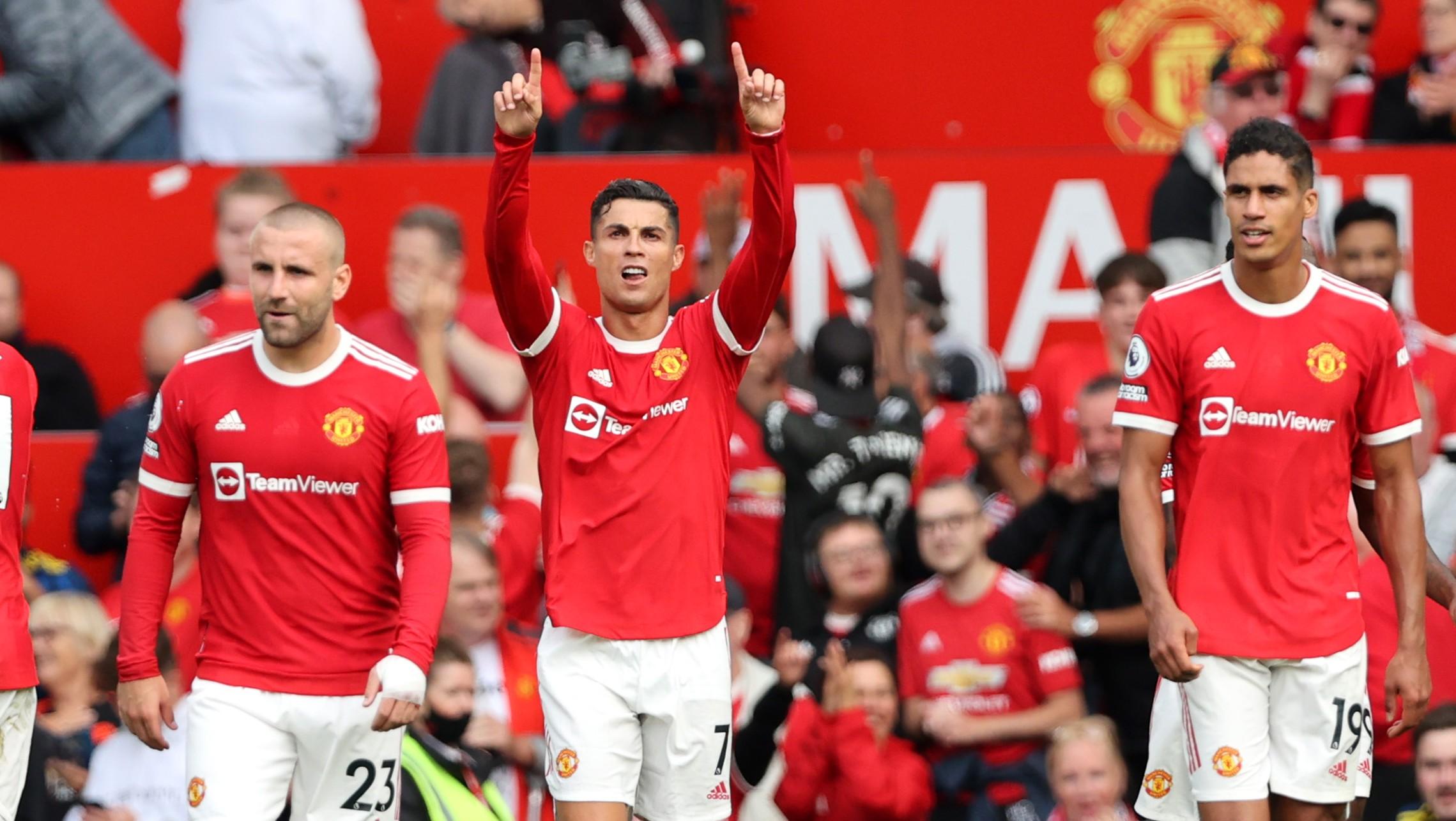 Cristiano Ronaldo celebra uno de sus goles. (Getty)
