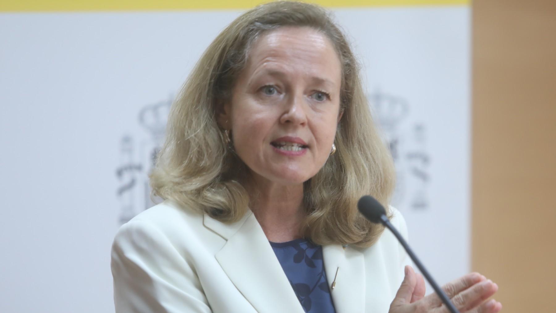 La vicepresidenta primera Nadia Calviño.