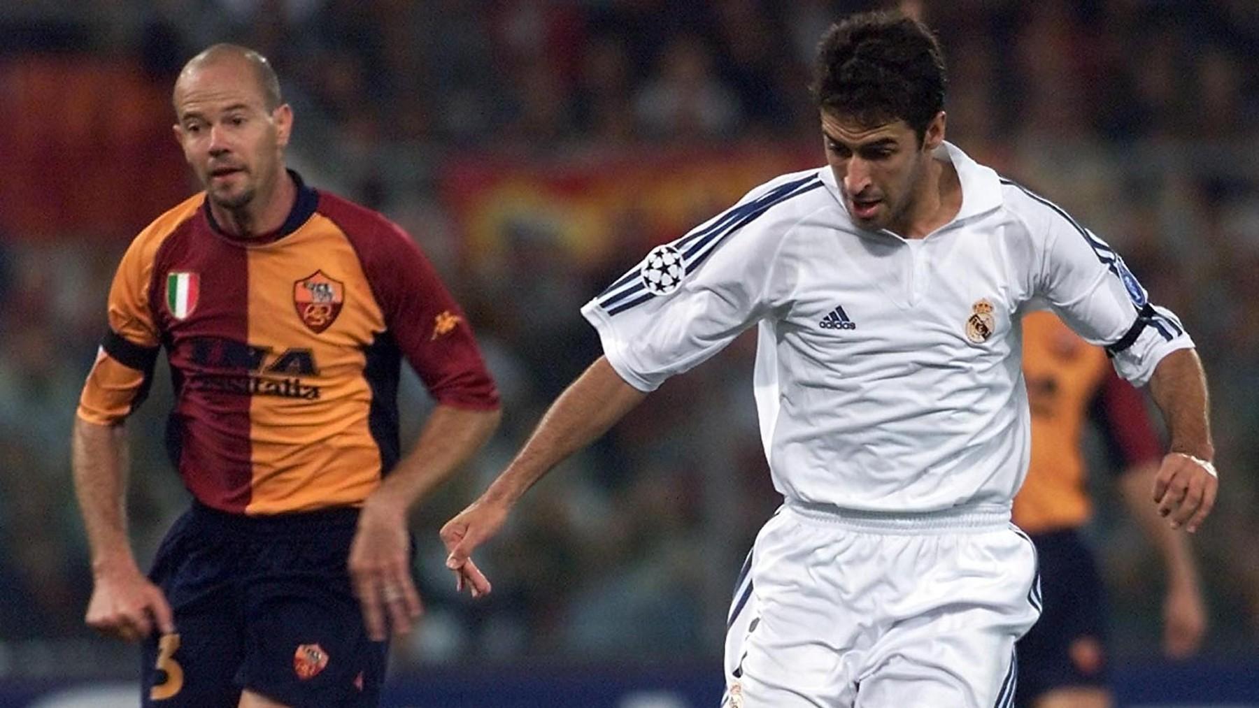 Una imagen del Roma – Real Madrid del 11 de septiembre de 2001. (AFP)