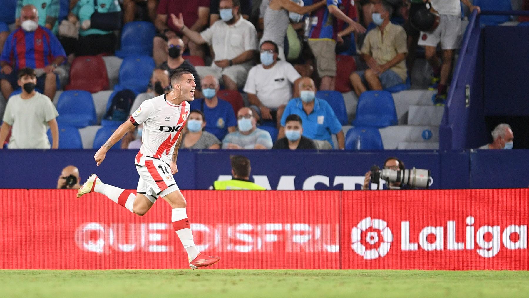 Sergi Guardiola celebra su gol ante el Levante. (Getty)