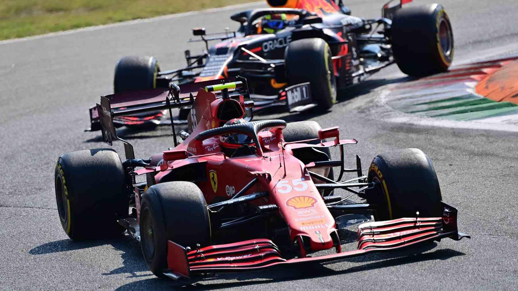Carlos Sainz en el GP de Italia en Monza. (AFP)