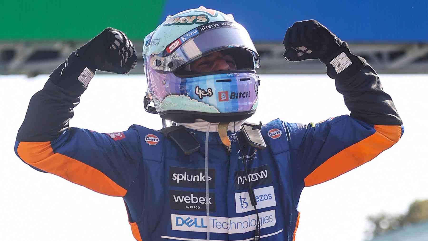 Daniel Ricciardo tras su victoria en el GP de Italia. (AFP)