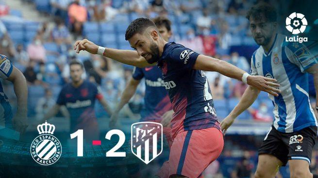 El Atlético se vuelve a salvar en el descuento