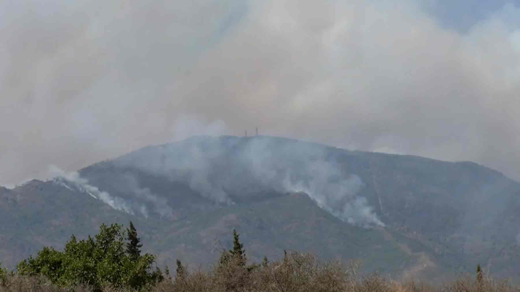 Incendio en Málaga.