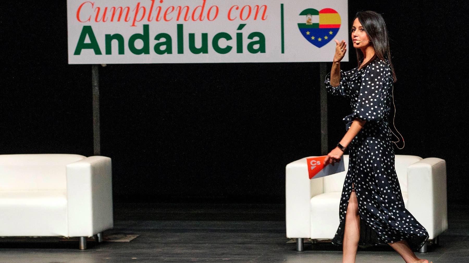 Inés Arrimadas en Andalucía. (Foto: EFE)