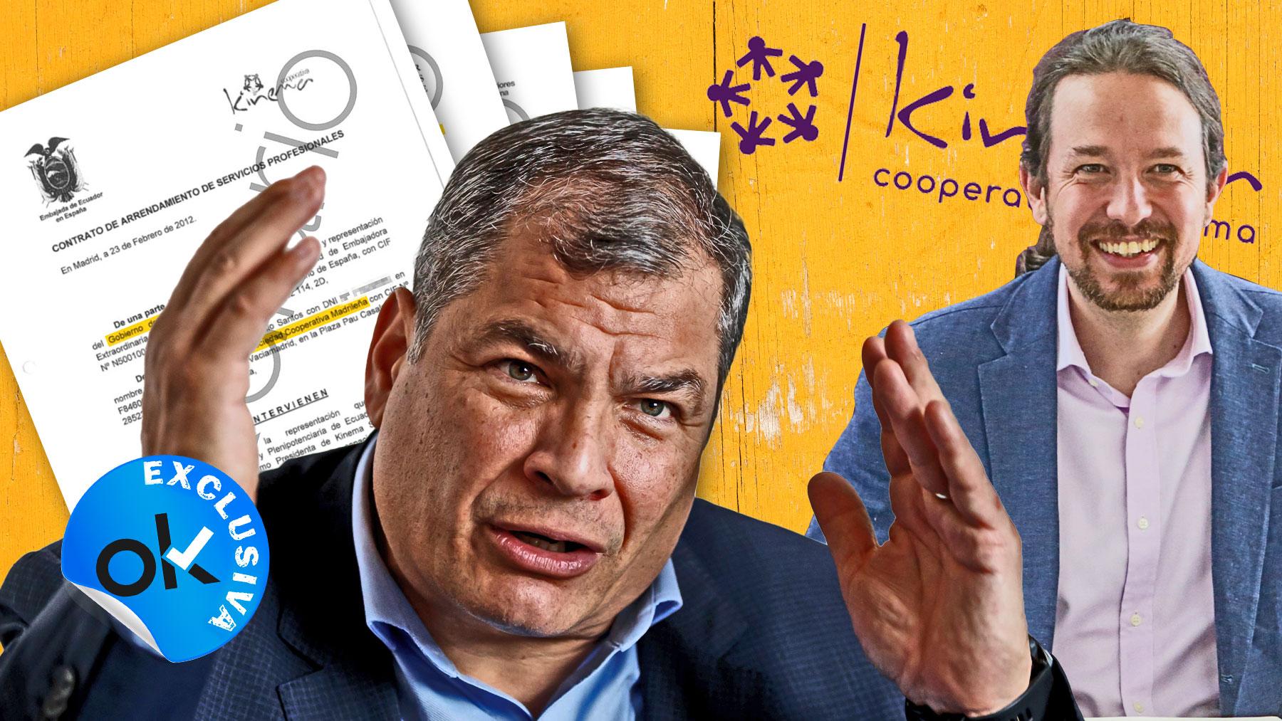 Rafael Correa, ex presidente de Ecuador, y Pablo Iglesias, fundador de Podemos.