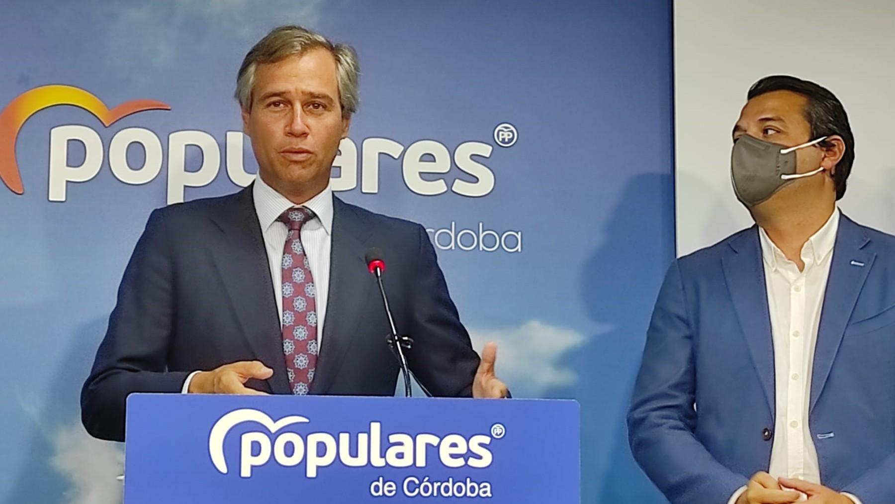 González Terol en la sede del PP de Córdoba.