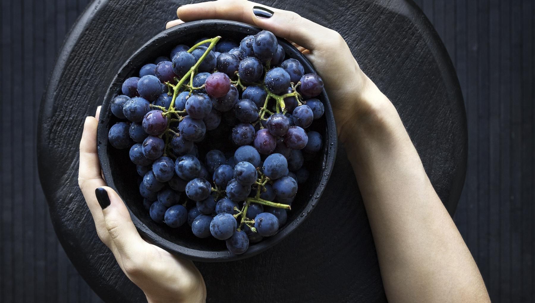 Torta crocante de uvas