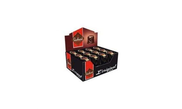Caja De 24 Rocas Suchard De Chocolate Negro