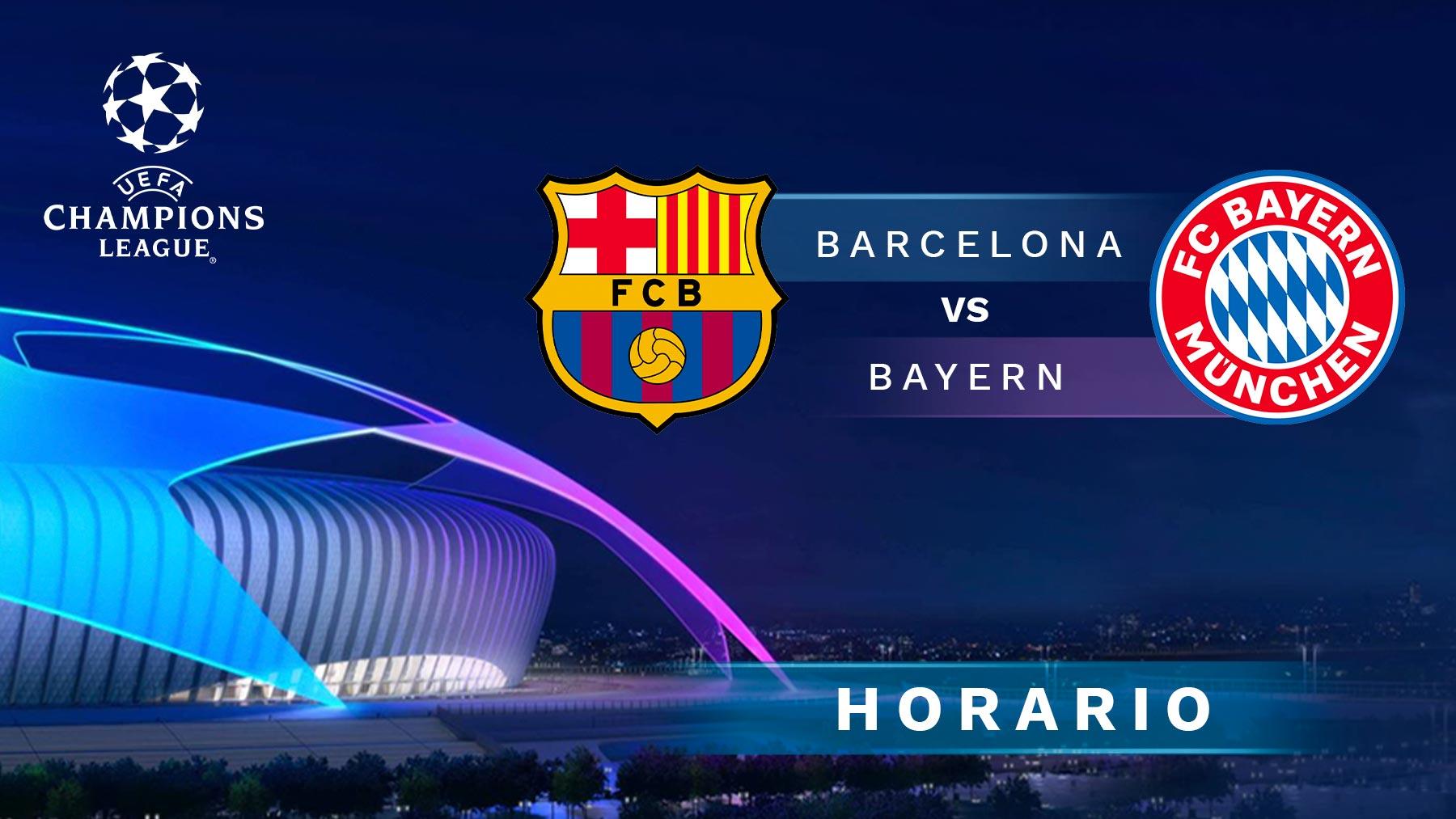 Barcelona – Bayern de Múnich: horario y dónde ver online en directo y por TV el partido de Champions League.