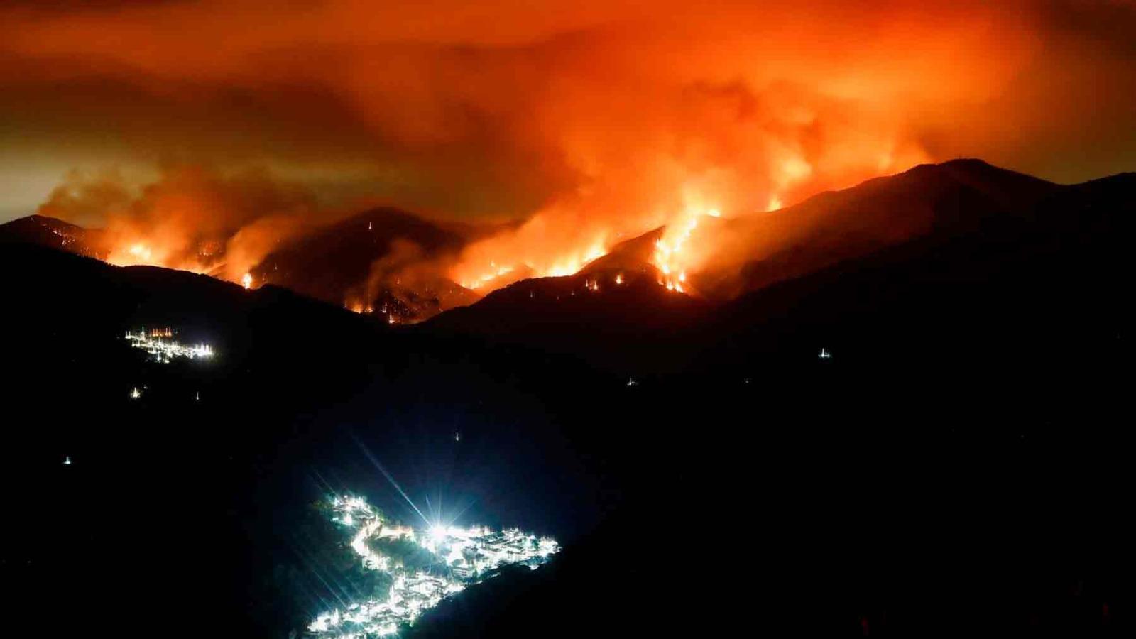 Devastador incendio en Sierra Bermeja (Málaga).