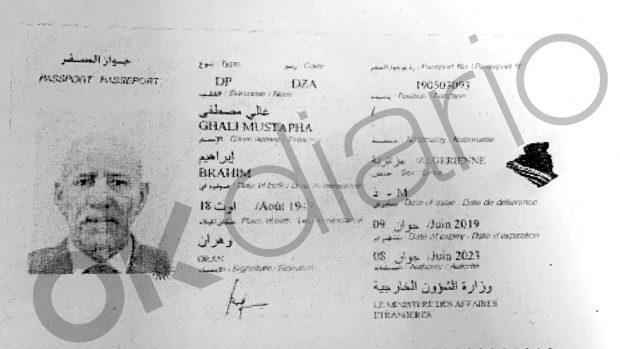 Pasaporte de Brahim Ghali expedido en 2019 aportado este lunes a la causa por Camilo Villarino.